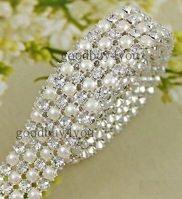 10//50cm Rhinestone Chain Crystal Trim Ribbon Sparkle Diamante Wedding Dress Deco