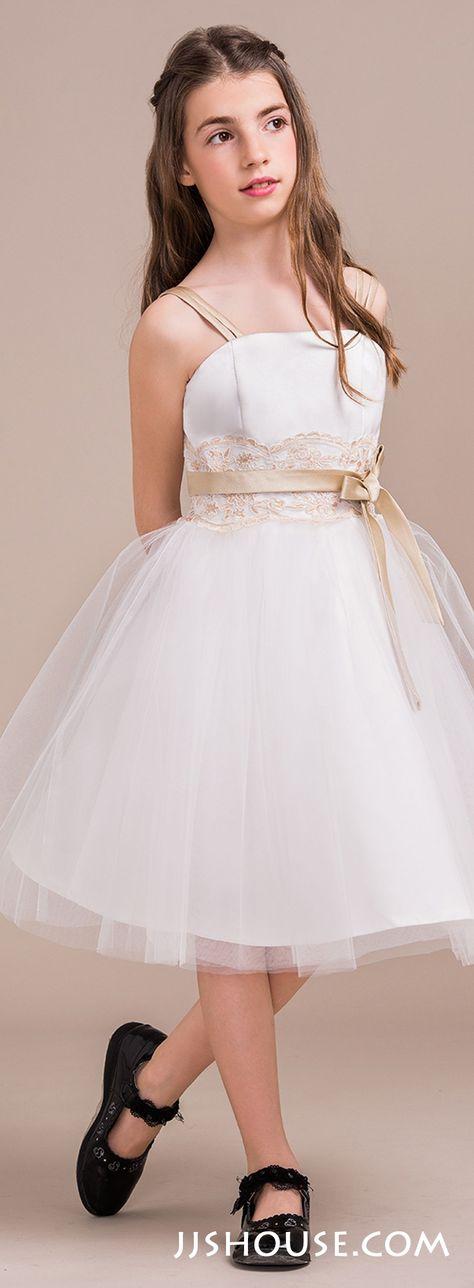 A-Line/Princess Sweetheart Floor-Length Chiffon Junior Bridesmaid ...