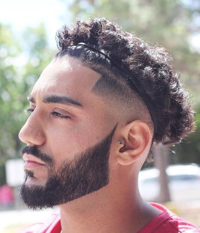 Curly Top Hairstyle With Headband Long Curly Hair Men Mens Hairstyles Headband Hairstyles