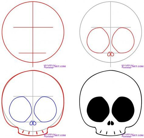 How To Draw A Chibi Skull Skulls Drawing Easy Skull Drawings Simple Skull Drawing