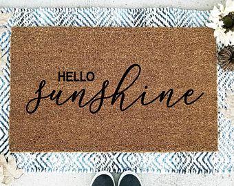 Funny Spring Doormat Etsy Door Mat Spring Doormats Welcome Mats