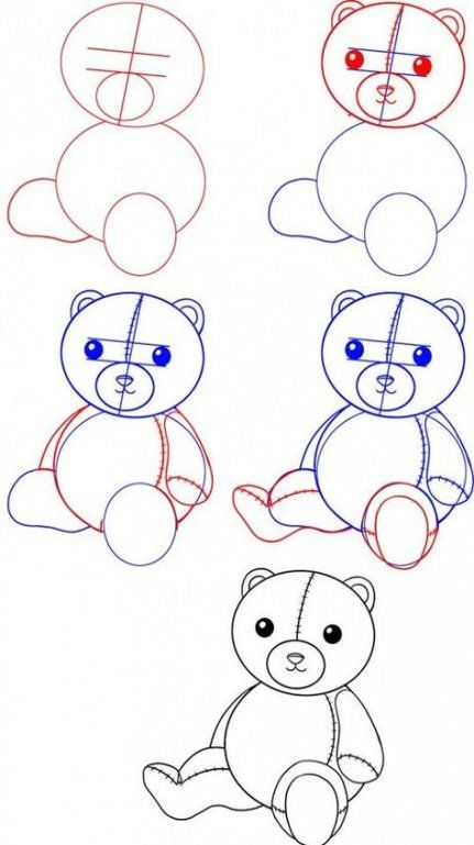 Drawing Tutorial For Kids Step By Step Shape 44 Best Ideas Drawing Tutorials For Kids Drawing Tutorial Teddy Drawing