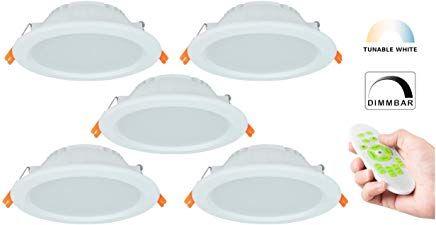 Tunable White Led Einbaustrahler Cct 3000 6000k Dimmbar Farbtemperatur Einstellbar Warm Neutral Kaltweiaÿ Ip44 Schutzk Led Einbaustrahler Einbaustrahler Led