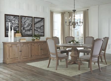 Florence Collection 180200cb 8 Pc Dining Room Set With Dining