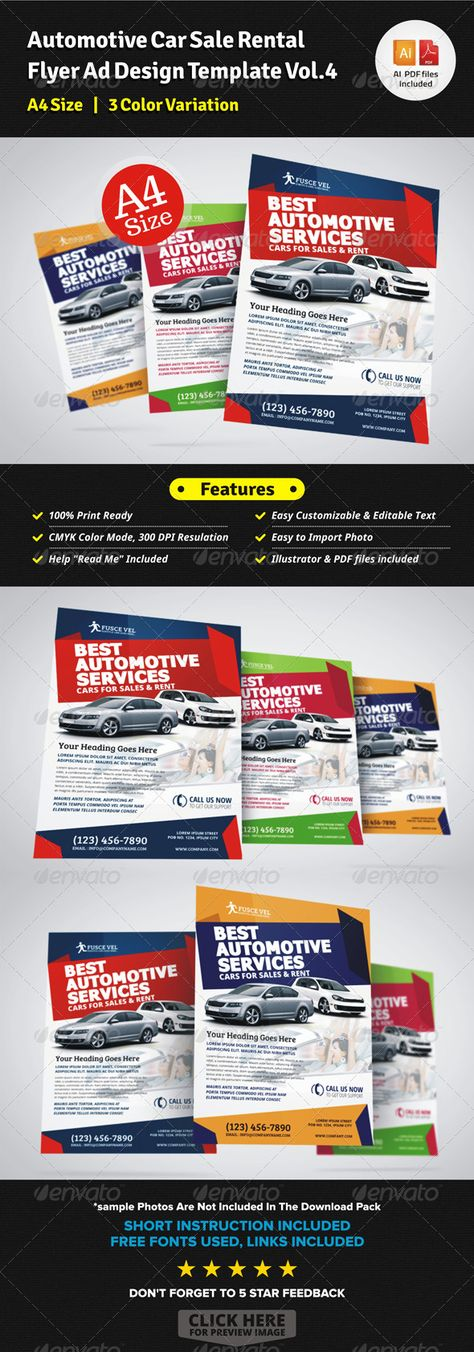 Automotive Car Sale Rental Flyer Ad Cars, Brochures and Printing - car sale flyer