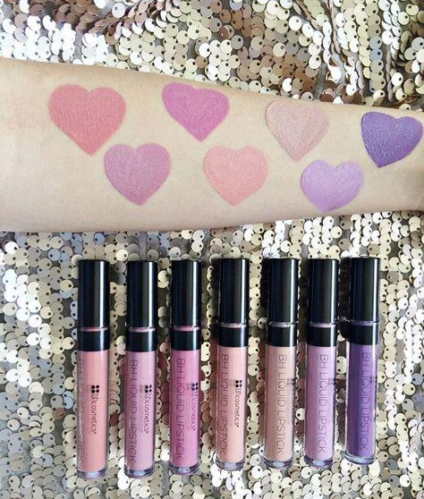 BH Cosmetics Liquid Lipsticks  (L-R): Tabitha, Samantha, Jeannie, Sorbet, Sandy, Daisy, and Gladys