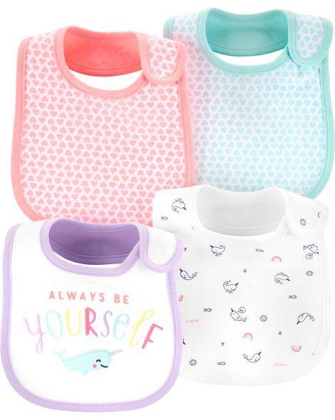 Simple Joys by Carters Baby Girls 4-Pack Feeder Bibs