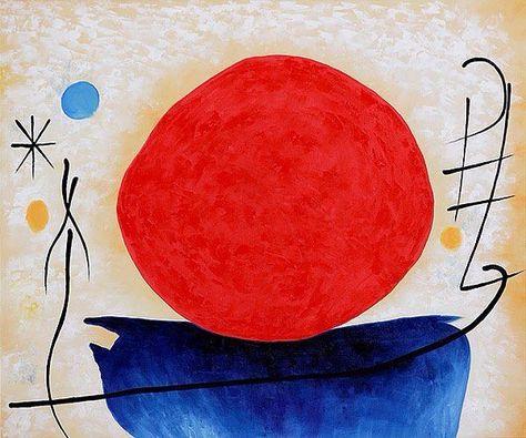 Joan Miró - Sol rojo, 1950