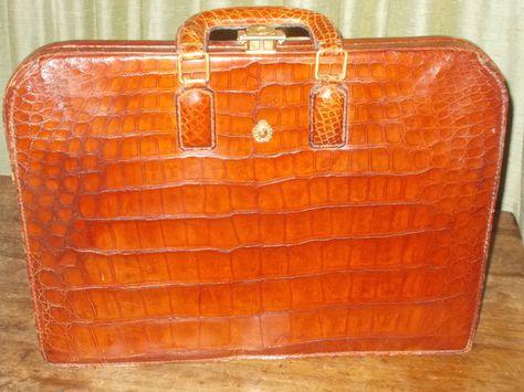 Amazing Vintage crocodile skin brief case
