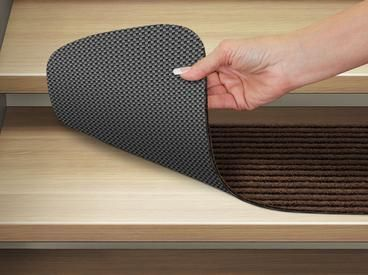 Carpet Stair Treads In Attachable Or Skid Resistant 12 Colors House Home More In 2020 Stair Treads Carpet Stair Treads Carpet Stairs
