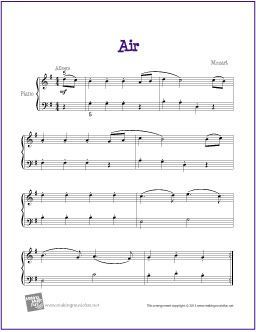Air Mozart Sheet Music Piano Music Piano Sheet Music