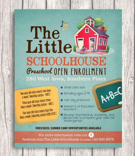 preschool flyers design non profit association for children - sample preschool brochure