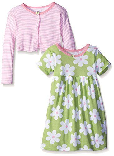 Gerber Toddler Girls TwoPiece Cardigan and Dress Set Flowers 4T >>> Click image to review more details.