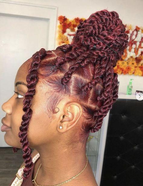 Black Girl Braided Hairstyles, Twist Braid Hairstyles, Baddie Hairstyles, African Braids Hairstyles, My Hairstyle, Girl Hairstyles, Protective Hairstyles, Natural Braided Hairstyles, Black Hairstyle