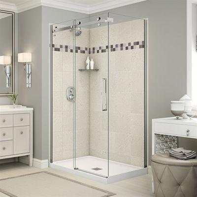 Maax Shower Stalls Enclosure Utile Corner Shower In Stone Sahara