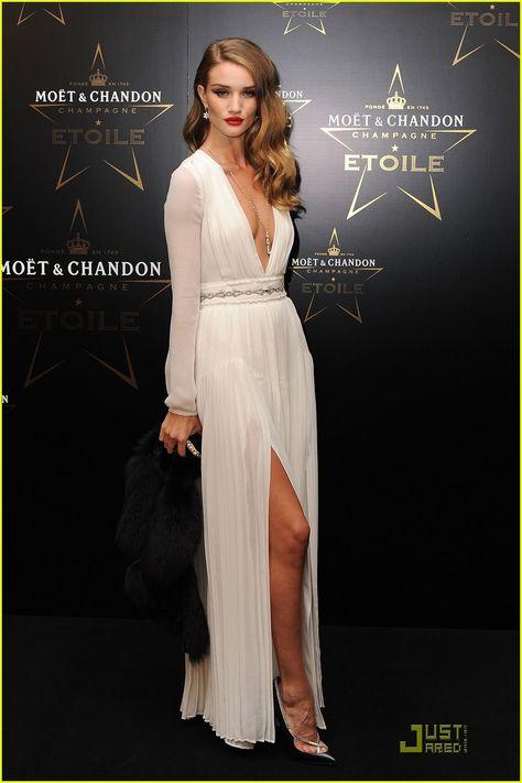 Rosie Huntington Whiteley...love this look.  Sexy yet elegant