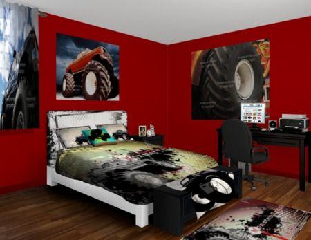 Custom Monster Truck Bedding Bed Sheets Comforters Duvet Covers Redecorating Ideas For Nick Pinterest Trucks And