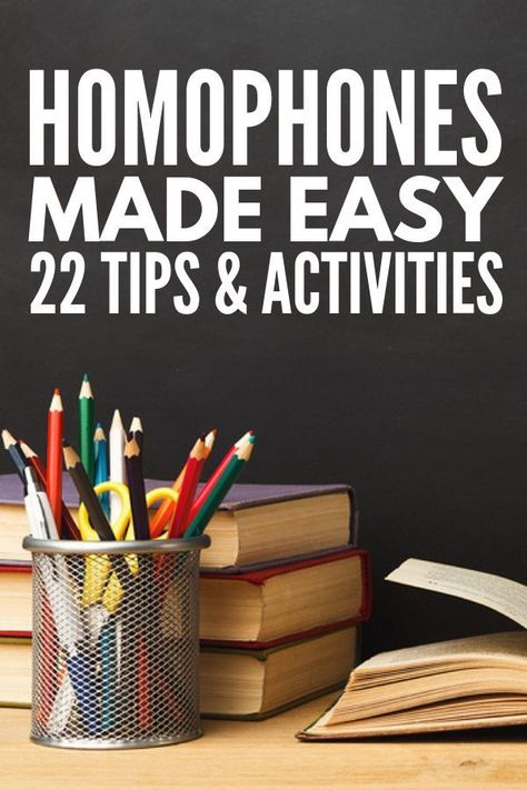 List of Pinterest homophones activities middle school kids