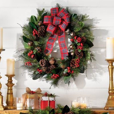 46++ Grandin road christmas wreaths info