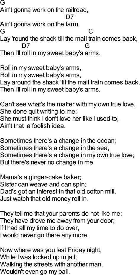 Old time song lyrics with chords for Rocky Top Tennessee C ...