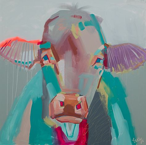 Original abstract, cow & animal paintings by Elaine Burge. Gregg Irby Gallery is Atlanta's fine art destination to discover emerging & established artists.