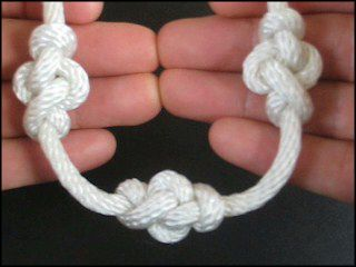 """Eternity Knot, how to tie. This site has TONS of """"New and unusual Ornamental Knots"""" with instructions."""