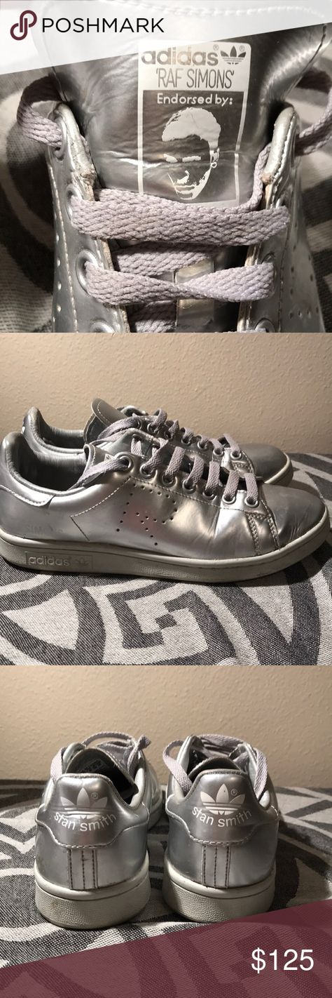 sports shoes b5c17 c22a5 Adidas Raf Simons    Stan Smith Iconic Perforated R Metallic silver Minor  creasing and wear