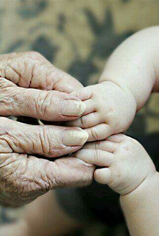 Ich Liebe Den Kontrast Zwischen Den Alten Verwitterten Handen Und