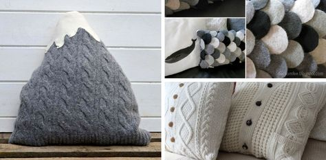 Upcycled Old Sweater Pillows Tutorials