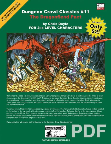 Dungeon Crawl Classics #11: The Dragonfiend Pact – PDF
