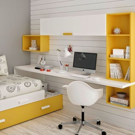 20 Gorgeous Small Kids Bedroom Ideas With Study Table 87designs Kids Study Table Design Childrens Bedrooms Design Kids Bedroom Designs Home Office Design