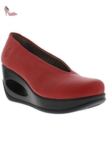 Hyaz - Scarlet Mousse - Chaussures fly london (*Partner-Link)   Chaussures fly london. Fly london. Chaussure