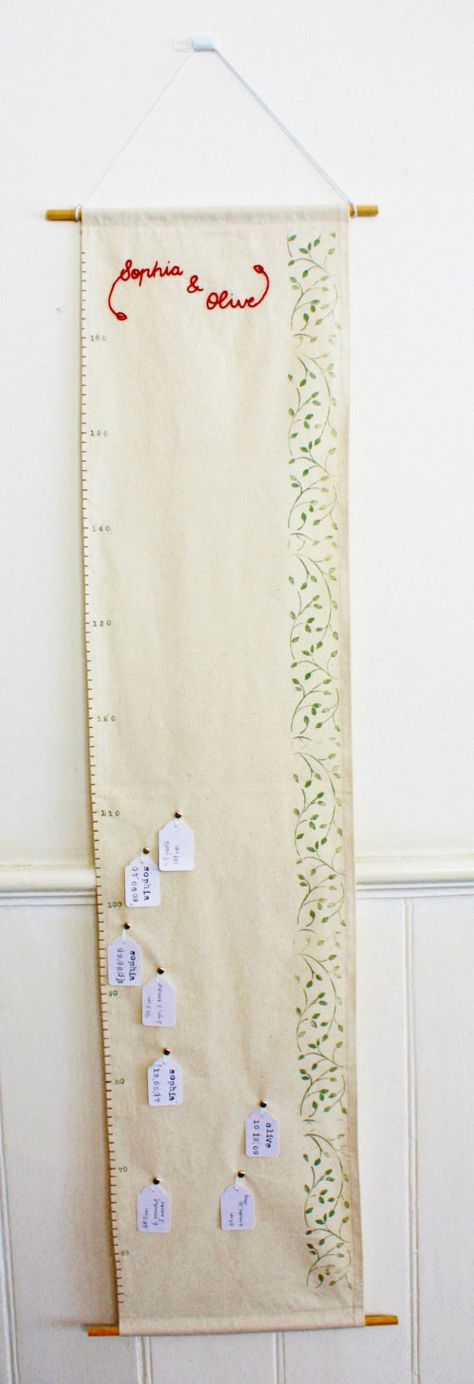 DIY handmade fabric growth chart!