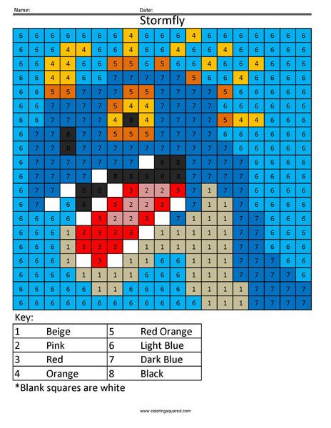 Cartoon Color By Number Coloring Squared Bargello Quilt Patterns Graph Paper Art Math Coloring Worksheets