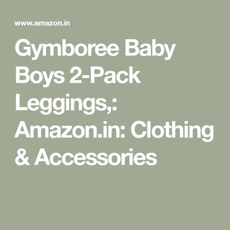 Gymboree Baby Boys 2-Pack Leggings