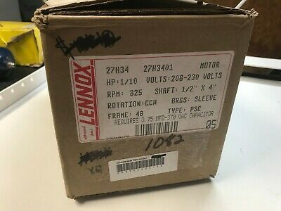 Nos Emerson Lennox 27h34 208 230v 1ph 1 10hp Motor Ac Condenser Fan 1082 In 2020 Things To Sell Ac Condenser Fan Motor