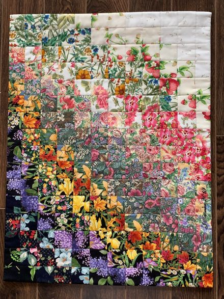 Garden In Bloom A Colourwash Quilt Watercolor Quilt Picture