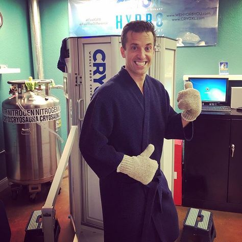 Tried out #cryotherapy yesterday! 3 minutes of -90C.