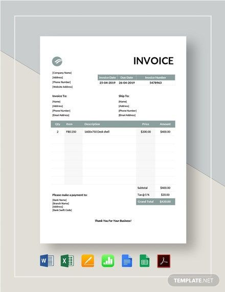 Instantly Download Furniture Invoice Template Sample Example In Pdf Microsoft Word Doc Microsoft Invoice Template Invoice Design Template Invoice Design