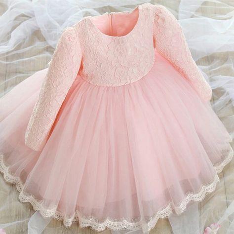 ad084867c07 Long sleeve childrens pink lace dress – Fabulous Bargains Galore