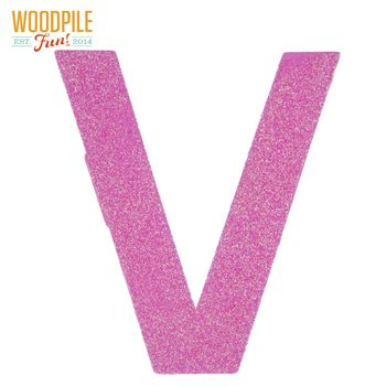 Glitter Wood Letter V 4 Wood Letters Lettering Painting On Wood