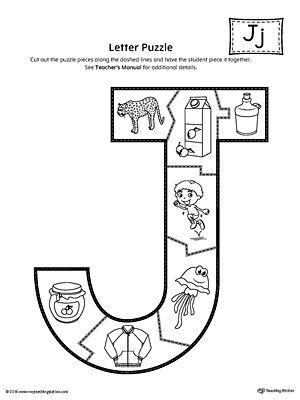 Letter J Puzzle Printable Letter J Beginning Sounds Worksheets Letter J Activities Letter j free printable worksheets