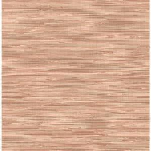 Nuwallpaper Tibetan Grasscloth Spice Pinks Vinyl Strippable Roll Covers 30 75 Sq Ft Nus3339 The Home Depot Peel And Stick Wallpaper Peelable Wallpaper Blue Floral Wallpaper