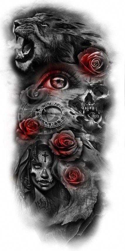 Half Sleeve Tattoo Designs And Meanings Halfsleevetattoos Custom Tattoo Design Custom Tattoo Body Art Tattoos