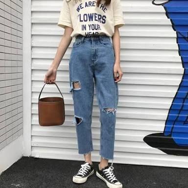 Resultado De Imagen Para Boyfriend Jeans Tumblr Womens Fashion Jeans Harajuku Fashion Street Edgy Outfits