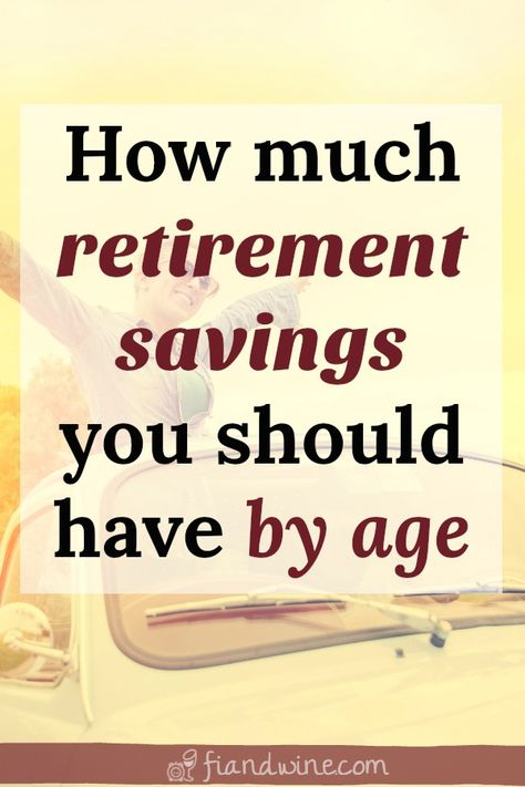 Are you on track to retire when you want to? Find out exactly how much money you should have saved for retirement at your current age in order to achieve your retirement goals. Easy to use charts and graphs to calculate where you should be. achieve Age c