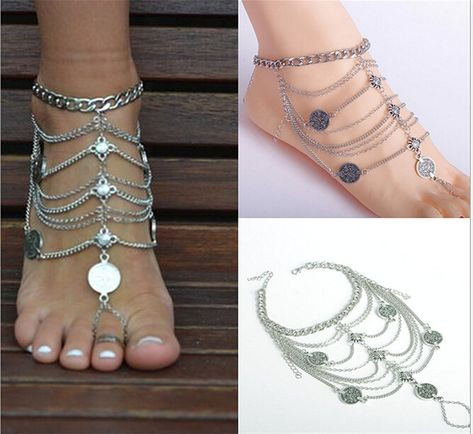 Buy New Vintage Women Ankle Bracelet Foot Jewelry Antique Silver Anklet Barefoot Sandals in Anklets on AliExpress