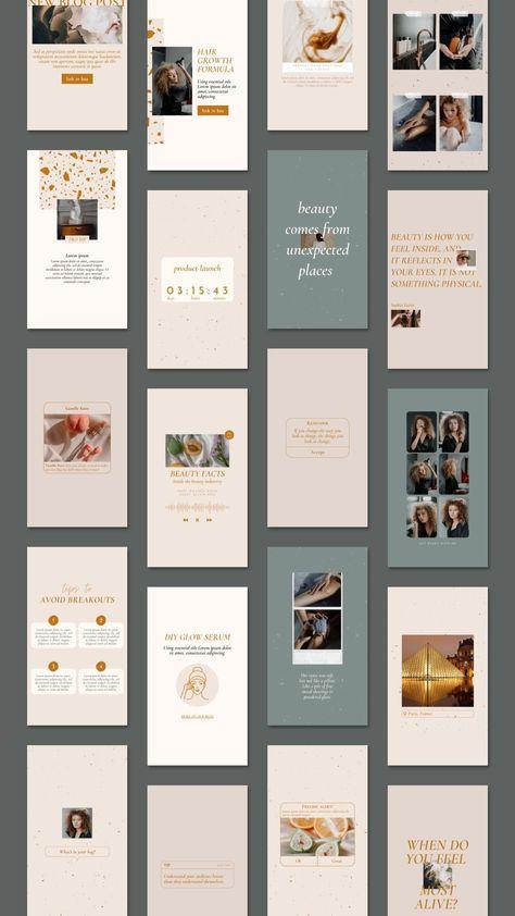 Instagram Beauty Theme Feed. Blogger Templates Design. Blogger Branding Design.