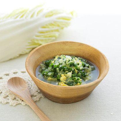 離乳食中期 白菜の卵黄煮 離乳食 離乳食レシピ ベビーフード