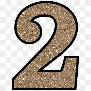 Clip Art Transparent Numbers Gold Glitter Glitter Number 2 Png Png Download Little Mermaid Birthday Glitter Gold Glitter